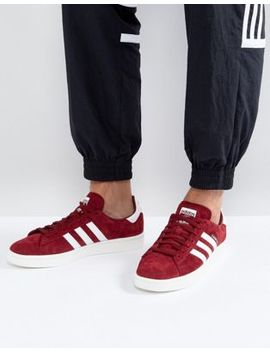 Adidas Originals Campus Trainers In Red Bz0087 by Adidas Originals