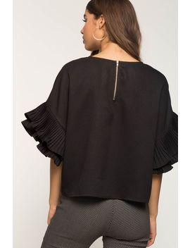 Pleated Sleeve Blouse by A'gaci