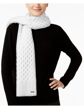 Honeycomb Cable Knit Scarf by Calvin Klein