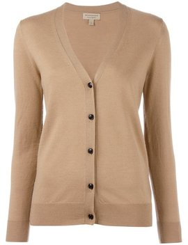 V Neck Buttoned Cardigan by Burberry