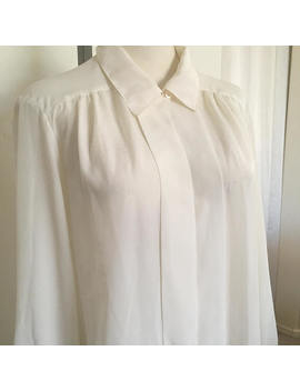 Vintage Ivory Blouse by Etsy