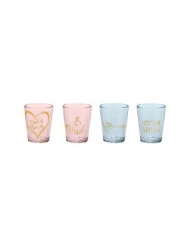 Wedding Party Set Of 4 Shot Glasses by Rosanna