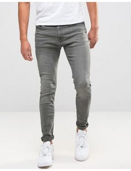 Jack & Jones Intelligence Skinny Jeans In Washed Grey by Jack & Jones