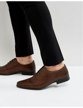 River Island Leather Oxford Shoes In Brown by River Island
