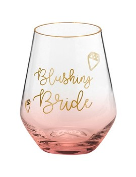 Blushing Bride Stemless Wine Glass by Rosanna