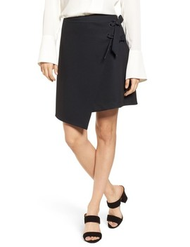 Asymmetrical Grommet Tie Skirt by Halogen®