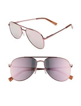 Kingdom 57mm Polarized Aviator Sunglasses by Le Specs
