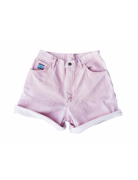 Sale   Pink High Waisted Shorts by Etsy