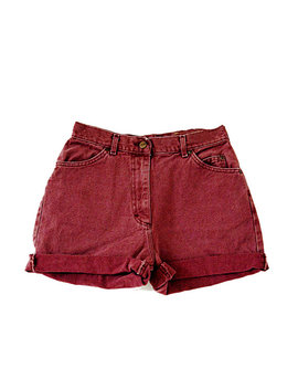 Sale   Maroon High Waisted Shorts by Etsy