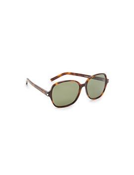 Classic 8 Mineral Glass Sunglasses by Saint Laurent
