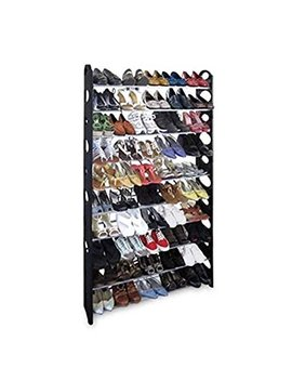 Pa Pafix 10 Tiers Shoe Rack Space Saving Shoe Tower Cabinet Storage Organizer Holds 50 Pair Of Shoes by Pa Pafix