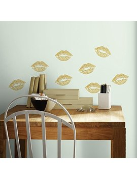 Room Mates Rmk3531 Scs Lip Peel And Stick Wall Decals With Glitter by Room Mates