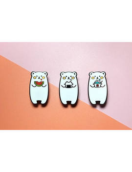 Hungry Bears | Enamel Pins by Etsy