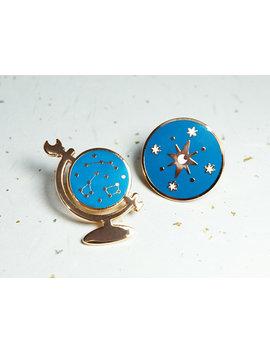 Astronomy   Duo Enamel Pin Set by Etsy