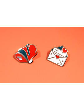 Love Letter | Enamel Collar Pins by Etsy