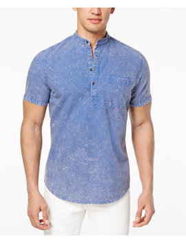 I.N.C. Men's Denim Popover Shirt, Created For Macy's by Inc International Concepts
