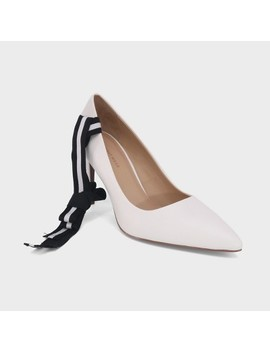 Women's Ally Smooth Faux Leather Dual Lace Pumps   Who What Wear™ White by Who What Wear