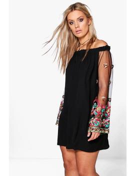 Plus Lottie Embellished Off The Shoulder Dress by Boohoo
