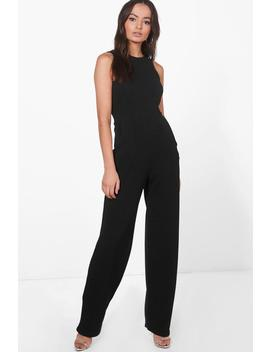 Olivia Round Neck Wide Leg Jumpsuit by Boohoo
