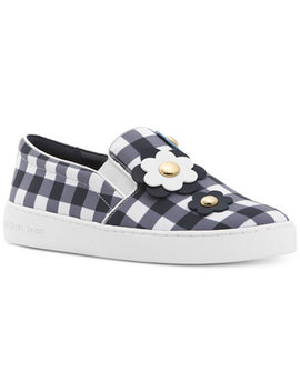Keaton Floral Gingham Slip On Sneakers, Created For Macy's by Michael Michael Kors