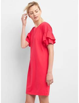 Ruffle Sleeve T Shirt Dress by Gap