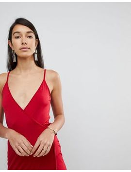 Asos Tall Sexy Wrap Midi Bodycon Dress by Asos Tall