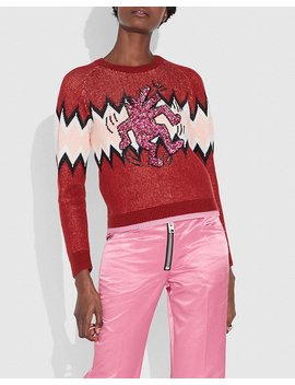 Coach X Keith Haring Zigzag Crewneck Sweater by Coach