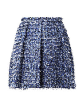 Fringed Printed Crepe Mini Skirt by Proenza Schouler