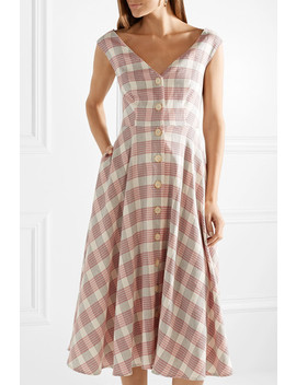 Finn Checked Crepe Midi Dress by Veronica Beard