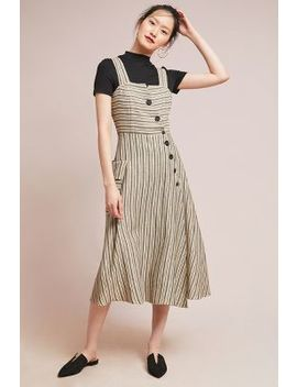 Striped Utility Midi Dress by Eva Franco