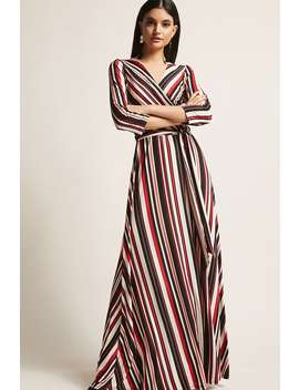 Stripe Surplice Maxi Dress by Forever 21