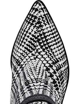 Velvet Heel Plaid Wool Ankle Booties by Off White C/O Virgil Abloh