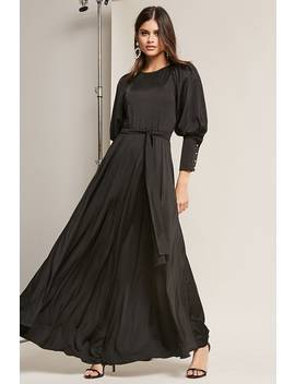 Eta Puff Sleeve Maxi Dress by Forever 21