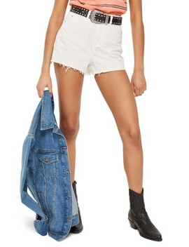 Cutoff Denim Mom Shorts by Topshop