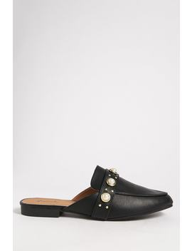 Qupid Embellished Loafer Mules by Forever 21