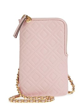 Fleming Lambskin Leather Phone Crossbody Bag by Tory Burch