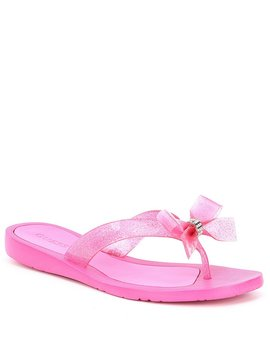 Tutu 9 Glitter Bow Detail Flip Flops by Guess