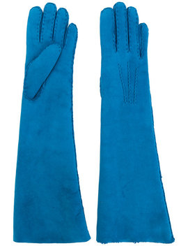 Shearling Long Gloves by Maison Fabre