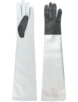 Long Colour Block Gloves by Manokhi