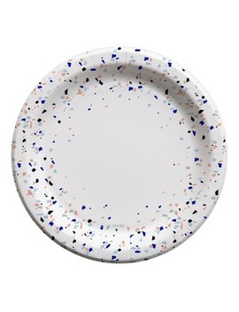 """Cheeky®  Multicolor Terrazzo Speckle Edge 10"""" Paper Plates   25ct by Cheeky Home"""