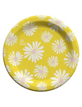 """Oh Joy! For Cheeky Daisies On Yellow 7"""" Paper Plates   40ct by Cheeky"""