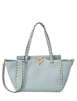 Valentino Rockstud Small Leather Tote by Valentino