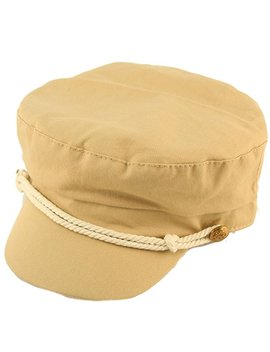 David & Young Ladies Summer Cotton Greek Fisherman Sailor Fiddler Driver Hat Flat Cap by David & Young