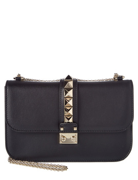 Valentino Medium Glam Lock Leather Satchel by Valentino