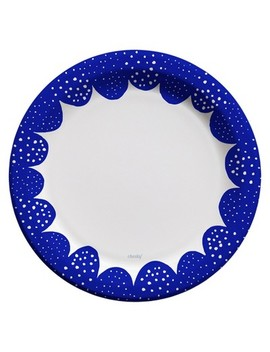 """Cheeky® Royal Blue Scallop Edge 10"""" Paper Plates   25ct by Cheeky Home"""