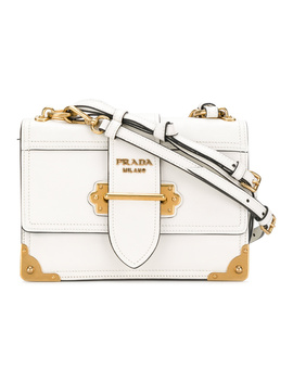 Prada Women's  White Leather Shoulder Bag by Prada