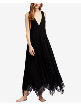 Girl Like You Plunging Lace Trim Slip Dress by Free People