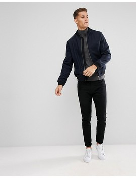 D Struct Wool Bomber Jacket by Jacket