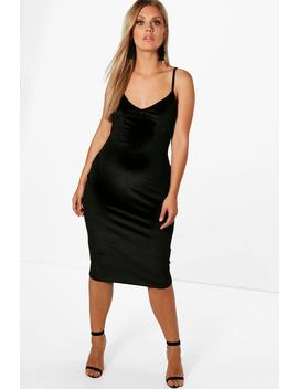 Plus Emily Embroidered Velvet Bodycon Dress by Boohoo