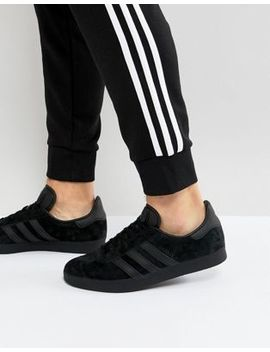 Adidas Originals Gazelle Sneakers In Black Cq2809 by Adidas Originals